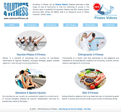 Solutions 4 Fitness website by Decent Design Taunton